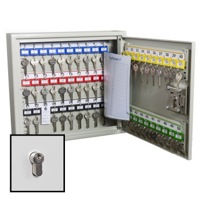 KeySecure Security Key Cabinet With Euro Cylinder Lock - 50 Hook