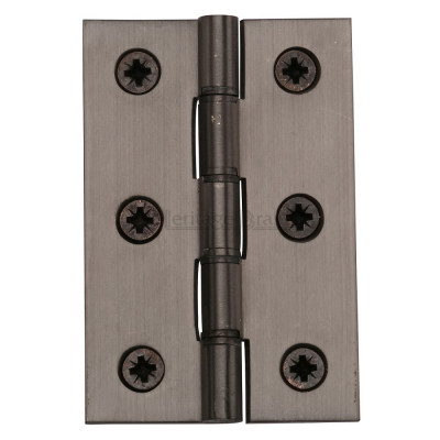 "M.Marcus 76x51mm (3"" x 2"") Double Phosphor Washered Butt Hinge (pair) - Matt Bronze"