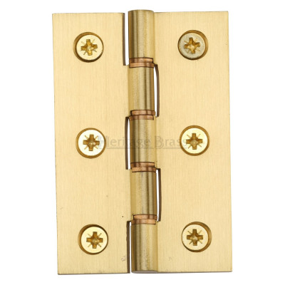 "M.Marcus 76x51mm (3"" x 2"") Double Phosphor Washered Butt Hinge (pair) - Satin Brass"