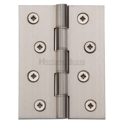 "M.Marcus 102x76mm (4"" x 3"") Double Phosphor Washered Butt Hinge (pair) - Satin Nickel"
