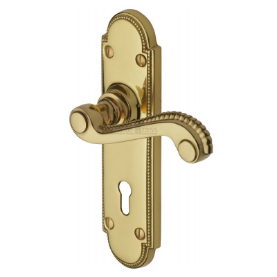 M.Marcus Adam Lock Handles - Polished Brass