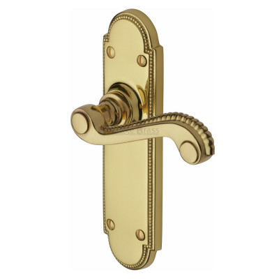 M.Marcus Adam Latch Handles - Polished Brass