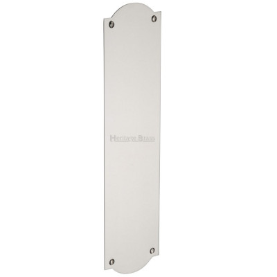 M.Marcus Shaped Finger Plate 305mm x 77mm - Polished Nickel