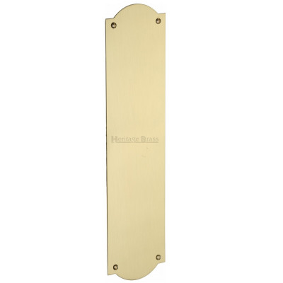 M.Marcus Shaped Finger Plate 305mm x 77mm - Satin Brass