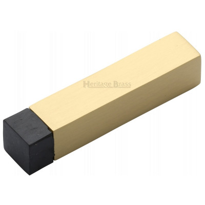 M.Marcus Square Wall Mounted Door Stop - Satin Brass