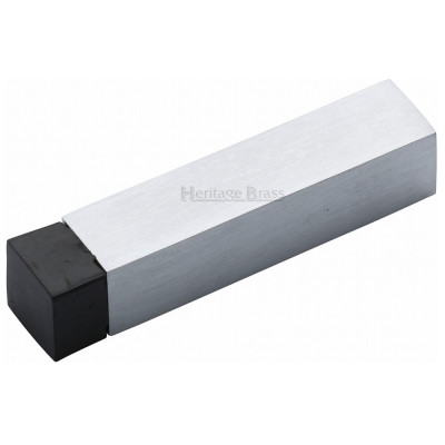 M.Marcus Square Wall Mounted Door Stop - Satin Chrome