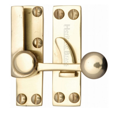 M.Marcus Hook Plate Sash Fastener - Polished Brass