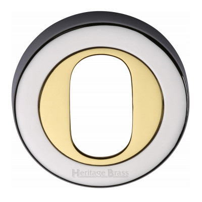 M.Marcus Oval Escutcheon 53mmØ - Chrome & Brass