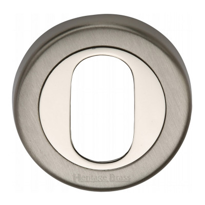 M.Marcus Oval Escutcheon 53mmØ - Mercury Finish