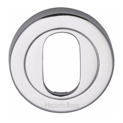 M.Marcus Oval Escutcheon 53mmØ - Polished Chrome