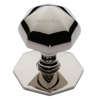 "M.Marcus Faceted Centre Door Knob 66mm (2.5"") - Polished Nickel"