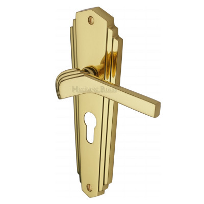 Exceptionnel M.Marcus Waldorf Euro Handles   Polished Brass