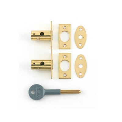 Yale 8001 Window Rack Bolt Twin Pack - Polished Brass