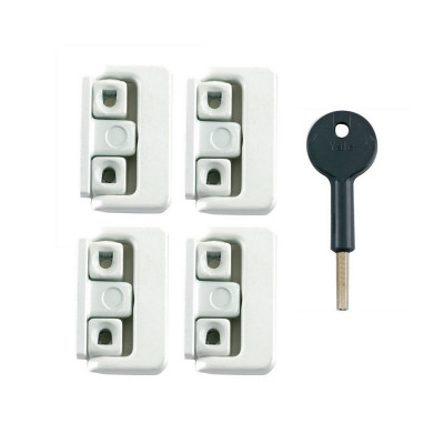 Yale 8K101 Window Lock Four Pack - White