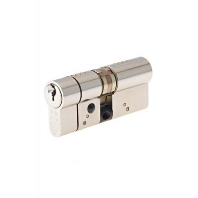 Yale AS Platinum TS007:3 Star Euro Double Cylinder - 40/40 (80mm) - Bright Nickel