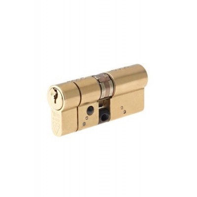 Yale AS Platinum TS007:3 Star Euro Double Cylinder - 35/45 (80mm) - Brass