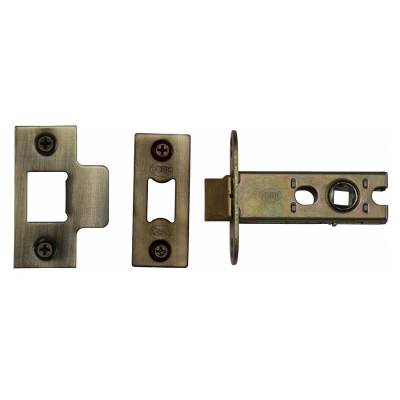"M.Marcus Heavy Duty Tubular Latch - 65mm (2.5"") Case - 44mm Backset - Antique Brass"