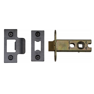 "M.Marcus Heavy Duty Tubular Latch - 65mm (2.5"") Case - 44mm Backset - Black"