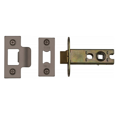 "M.Marcus Heavy Duty Tubular Latch - 65mm (2.5"") Case - 44mm Backset - Matt Bronze"