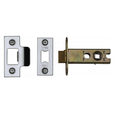 "M.Marcus Heavy Duty Tubular Latch - 65mm (2.5"") Case - 44mm Backset - Polished Chrome"