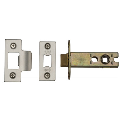 "M.Marcus Heavy Duty Tubular Latch - 77mm (3"") Case - 57mm Backset - Satin Chrome"
