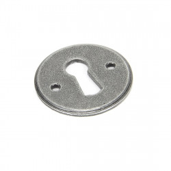 From The Anvil Regency Lever Key Escutcheon - Pewter