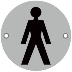 76mmØ Male Screw Fix Sign - SSS