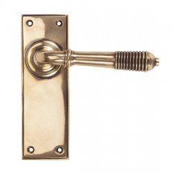 From The Anvil Reeded Latch Handles - Polished Bronze