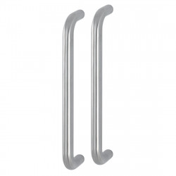 "Hoppe 20mmØ ""D"" Back to Back Pull Handles 300mm - Grade 316 Satin Stainless Steel"