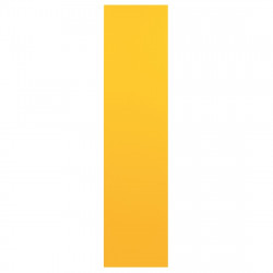 Arrone Nylon Finger Plate 350mm x 75mm - Yellow RAL1004