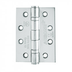 "Arrone 100x75mm (4"" x 3"") Grade 13 Ball Bearing Butt Hinges with Square Corners (pair) - PSS"