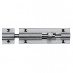 "M.Marcus Straight Door Bolt - 102mm (4"") - Satin Chrome"