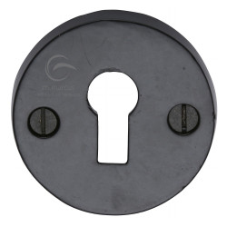 M.Marcus Lever Key Escutcheon - Smooth Black Iron