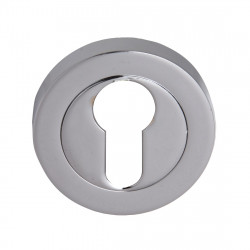 Fortessa Euro Profile Round Escutcheon (pair) - Polished Chrome