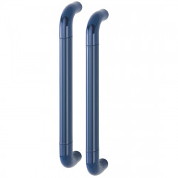 Hoppe 34mmØ Nylon 'D' Back To Back Fixing Pull Handle 425mm - Midnight (Dark) Blue RAL5003