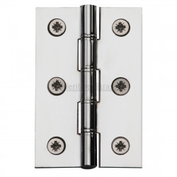 "M.Marcus 76x51mm (3"" x 2"") Double Phosphor Washered Butt Hinge (pair) - Polished Chrome"