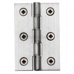 "M.Marcus 76x51mm (3"" x 2"") Double Phosphor Washered Butt Hinge (pair) - Satin Chrome"