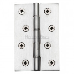 "M.Marcus 102x67mm (4"" x 2 5/8"") Double Phosphor Washered Butt Hinge (pair) - Satin Chrome"