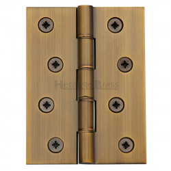 "M.Marcus 102x76mm (4"" x 3"") Double Phosphor Washered Butt Hinge (pair) - Antique Brass"