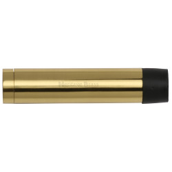 M.Marcus 64mm Cylinder Wall Mounted Door Stop - Polished Brass