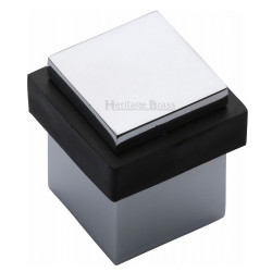 M.Marcus Squared Floor Mounted Door Stop - Polished Chrome