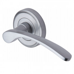 M.Marcus Sophia Lever Handles on Round Rose - Satin Chrome