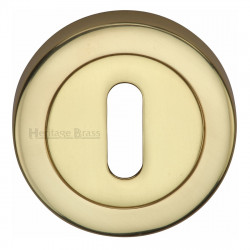 M.Marcus Lever Key Escutcheon 53mmØ - Polished Brass