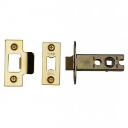 "M.Marcus Heavy Duty Tubular Latch - 65mm (2.5"") Case - 44mm Backset - Polished Brass"