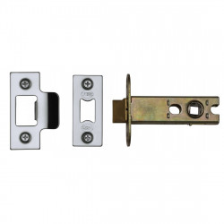 "M.Marcus Heavy Duty Tubular Latch - 77mm (3"") Case - 57mm Backset - Polished Chrome"